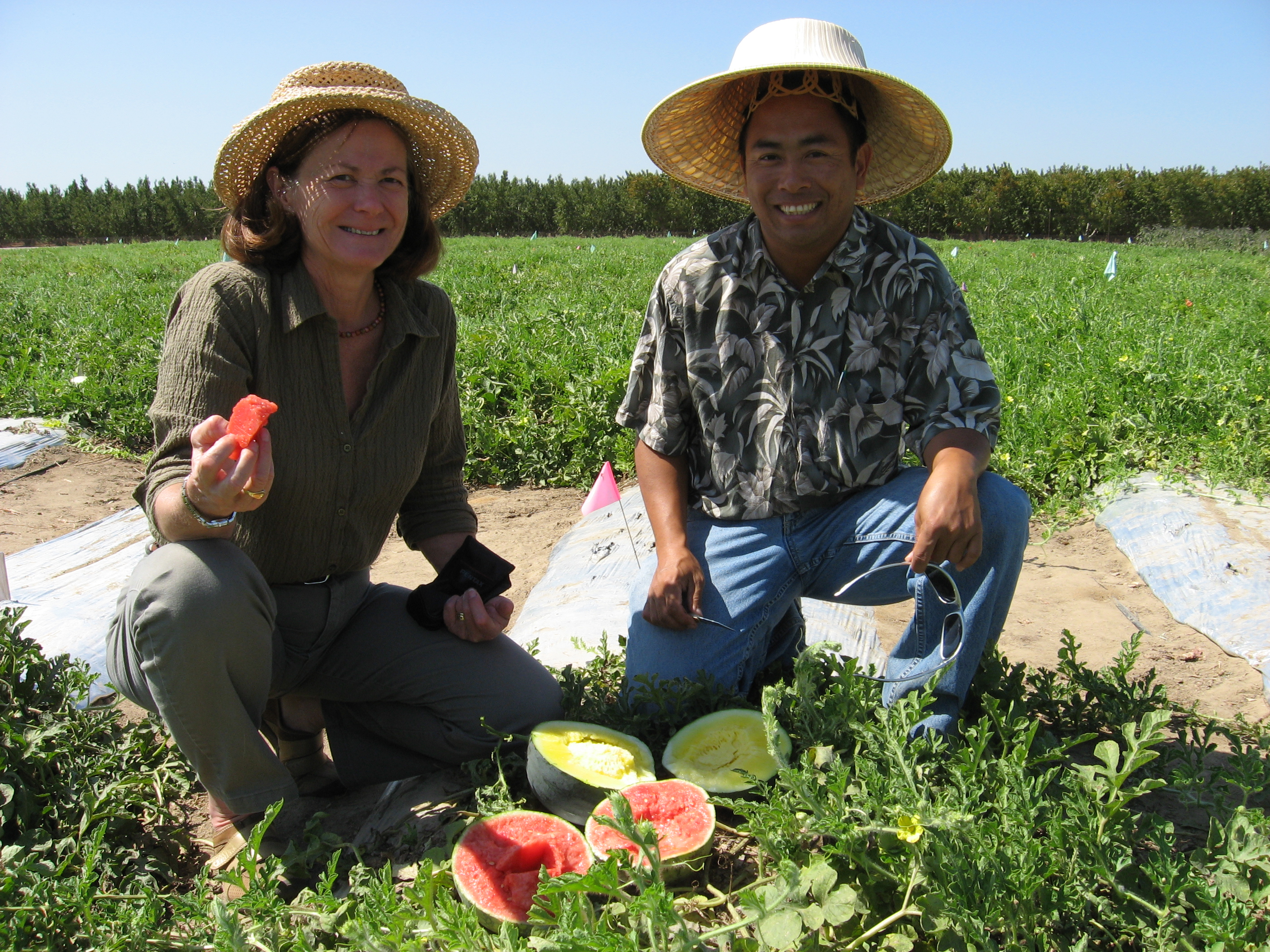 Shermain with Michael Yang, UCCE Fresno County Hmong Agricultural Assistant